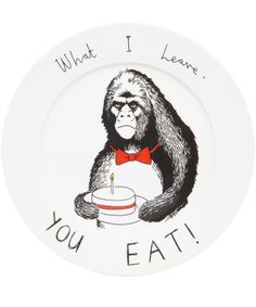 Jimbobart What I Leave You Eat Side Plate | Home | Liberty.co.uk