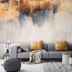 Give your room that show-stopping feature wall with a custom made wallpaper mural from Wallsauce Be inspired by this made-to-measure wallpaper collection from Wallsauce. Great for avid art collect Feature Wall Living Room, Living Room Grey, Living Room Ideas With Grey Sofa, Living Room Decor Gold, Room Interior, Interior Design Living Room, Living Room Designs, Interior Paint, Home Decoracion