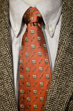 See this tie.  Don't do it. Even if you drink a lot of scotch, this will still be an ugly tie.  Just don't.