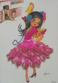 Kaart flamenco danseres (7872d)