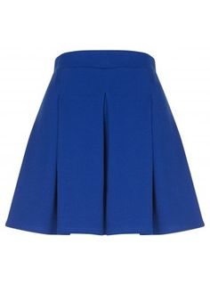 Cobalt Pleat Skater Skirt - £12.99 TREND: Glam Slam! #fashion #style #trend #fbloggers #internacionale