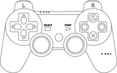 1b coloring pages | Printable Video Game Controller Template | printables ...