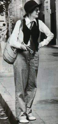 Annie Hall--Such a good movie and Diane Keaton launched a style that still looks great!