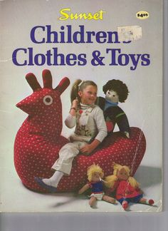Vintage Sunset Book  Patterns for Children's Clothes and Toys.