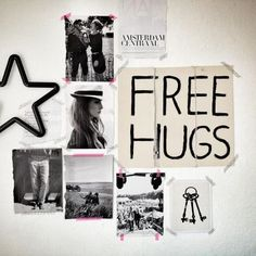 free hugs & photos | creative wall space I really like this 'organization'. I need to work on this.