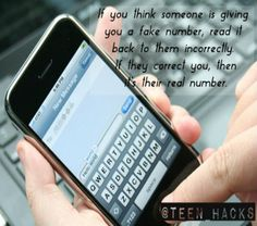 Fake Number, Real Numbers, Teen Life Hacks, Useful Life Hacks, Fun Facts, Website, Random, Awesome, Funny Facts