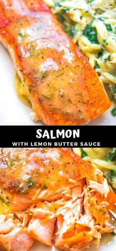 salmon recipes This Easy Lemon Butter Salmon recipe makes an elegant and delicious dinner. Seared in a skillet on the stove top and ready in under 20 minutes! Cooktoria for more deliciousness! Salmon Recipe Videos, Baked Salmon Recipes, Fish Recipes, Seafood Recipes, Cooking Recipes, Healthy Recipes, Salmon Recipes Stove Top, Flour Recipes, Bread Recipes