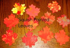 Two techniques for creating pretty painted leaves