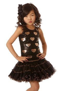 43fb29cca1e8 Ooh La La Couture Wiretrim Poufier Dress in Black with Gold Hearts Fall 2014