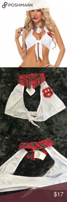 Sexy School Girl Top Sexy School Girl Top. Never Worn. Adjust tie knot in front to fit you. Back of the neck Velcro's.. So sexy. Bought for Playboy Mansion Halloween and never wore it. Yandy Intimates & Sleepwear