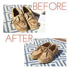 Tips for cleaning your Sperrys after spending too much time in the barn.
