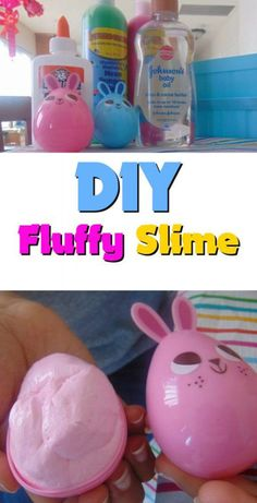 DIY Fluffy Slime Recipe- Make It yourself! Have fun with the kids. #Slime #slimerecipe #diy #fluffyslime #CuteFluffyThings