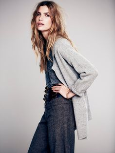 Free People Slouchy Sweater Jacke