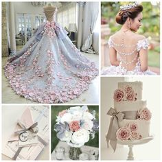 Princess pink and gray quinceanera | Quinceanera Ideas |