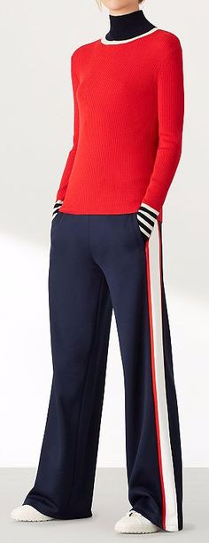 Tory Sport: Performance Activewear for Women by Tory Burch Tennis Fashion, Sport Fashion, Thursday Outfit, Urban Looks, Pants For Women, Clothes For Women, Sport Chic, Sport Pants, Sport Outfits