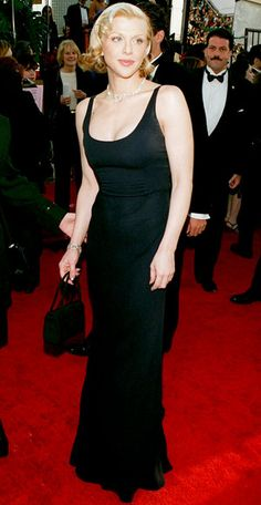 The Golden Globe Gowns We Love - Courtney Love, 1997 from #InStyle