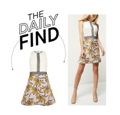 """The Daily Find: River Island Jacquard Dress"" by polyvore-editorial ❤ liked on Polyvore featuring River Island and DailyFind"