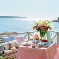 Summer Time, Table Decorations, Dining, Inspiration, Furniture, Home Decor, Coastal, Pink, Style