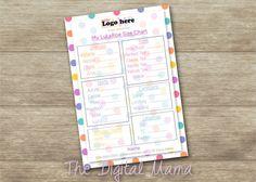 LuLaRoe Product Sizing Chart Business By TheDigitalMama