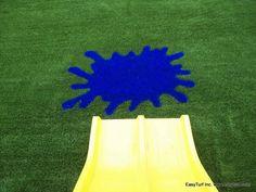 A splash of color anyone? www.easyturf.com l outdoor living l design l artificial turf l kids l children l fun l safety l fake grass