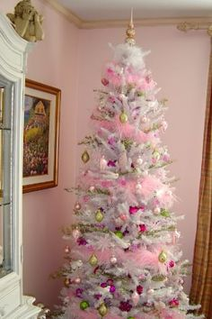 Decorated Christmas Tree Pink