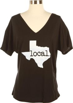 Sport your local pride with the Ladies Texas Local Black T-shirt! This super soft black tee is sure to be your new favorite! Order today - we ship quickly!