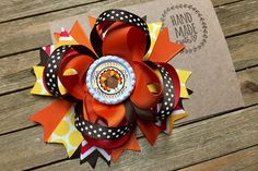 Your place to buy and sell all things handmade Thanksgiving Hair Bows, Thanksgiving Turkey, Fall Hair, Hair Clips, Cap, Colorful, Bottle, Unique Jewelry, Handmade Gifts