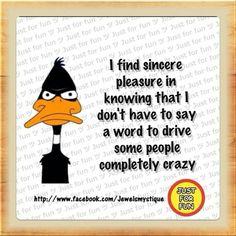 Daffy duck logic...
