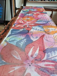 Scarves, Hand Painted, Contemporary, Rugs, Painting, Home Decor, Scarfs, Farmhouse Rugs, Decoration Home