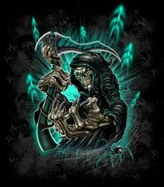Find the best Badass Grim Reaper Wallpaper on GetWallpapers. We have background pictures for you! Death Reaper, Grim Reaper Art, Grim Reaper Tattoo, Don't Fear The Reaper, Skull Wallpaper, Boys Wallpaper, Phoenix Wallpaper, Dark Fantasy Art, Dark Art