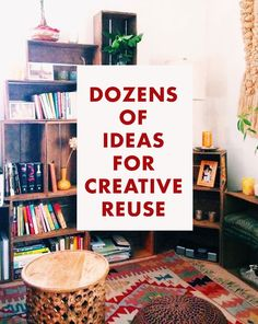 Dozens of ideas for creative reuse reuse recycle, upcycle, recycling, home crafts, Reuse Recycle, Upcycle, Recycling, Reduce Reuse, Do It Yourself Furniture, Diy Furniture, Home Projects, Projects To Try, Craft Projects
