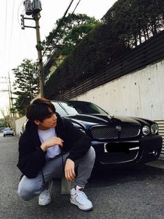 JungKook from BTS and car