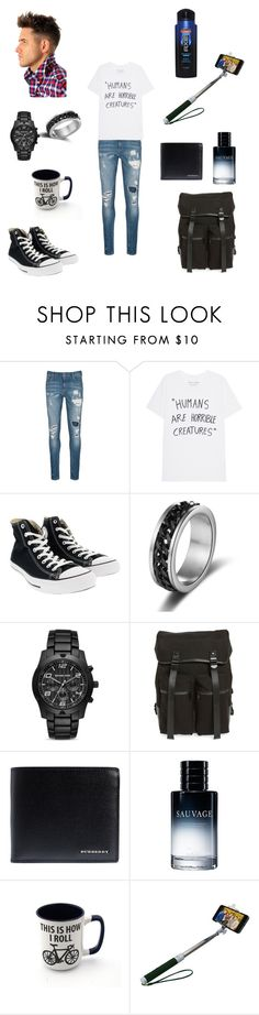 """""""Male version of admin"""" by skrillexmichaelis ❤ liked on Polyvore featuring Scotch & Soda, Converse, Michael Kors, Topman, Burberry, Christian Dior, Axe, men's fashion and menswear"""