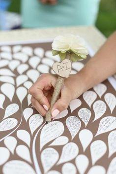 Tableau livre d or mariage orchidée livre d or polaroid originale idée