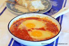 Shakshouka~~Taste of Israel. Ally hits it outta the park with this dish! http://www.allyskitchen.com/2013/11/15/shakshukataste-israel/