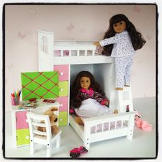 18inch doll furniture now available at www.mydollboutique.co.uk Molly's new bedroom