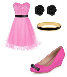 """""""🎀Black and Pink, what do you think?🎀"""" by smbee on Polyvore featuring Journee Collection, Jil Sander and Halcyon Days"""