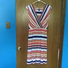 Bundle Merona stripe dresses Two Merona stripe dresses~size small~ excellent condition ~ hardly worn Merona Dresses