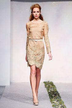 LUISA BECCARIA FALL 2012 RTW Green Dress