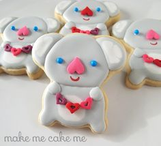 I love you (koala) bear-y much cookies! From an upside down teddy bear cutter! | Make Me Cake Me