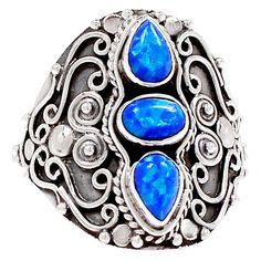 Fire Opal 925 Sterling Silver Ring Jewelry s.9 SR175281   eBay