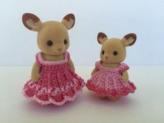 Coordinated Party Dresses for Momma and Sister Calico Critters by OnACalicoDay on Etsy https://www.etsy.com/listing/241585460/coordinated-party-dresses-for-momma-and