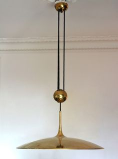 1950s pendant lamp Florian Schulz counterweight model Onos 55 | A Life Before