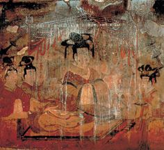 Mural Art in Anak Tomb No. 3. Painting in Anak Tomb No. 3, the 67th national treasure of Korea.