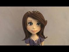 How to make fondant princess Sofia Fondant Cake Tutorial, Fondant Decorations, Doll Tutorial, Disney Princess, Disney Characters, Face, Youtube, How To Make, Tutorials