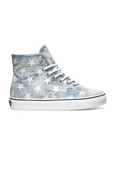 Authentic Hi Shoe - Blue Stars...i have these and i am in loveeeee