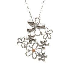 Diamond cluster Petal pendant #houseoflor #irishjewelry #irishgold #pendant #sterlingsilver #rosegold