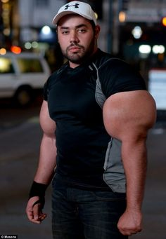 Mr Ismail says he began bodybuilding to get fit and realized he enjoyed his arms getting bigger.