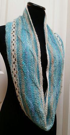 A third Cowl design in my GEM cowl pattern collection, using beautiful NORO Ayatori yarn!