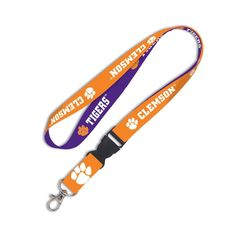 """Clemson Tigers Official NCAA 20"""" Lanyard With Detachable buckle 3/4"""" NEW #Wincraft #ClemsonTigers"""